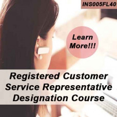 Florida: 40hr 4-40 RCSR - Registered Customer Representative Designation Online Course